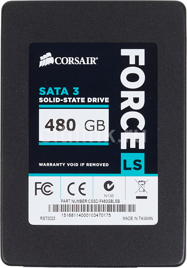 Накопитель SSD CORSAIR Force LS CSSD-F480GBLSB 480Гб, 2.5