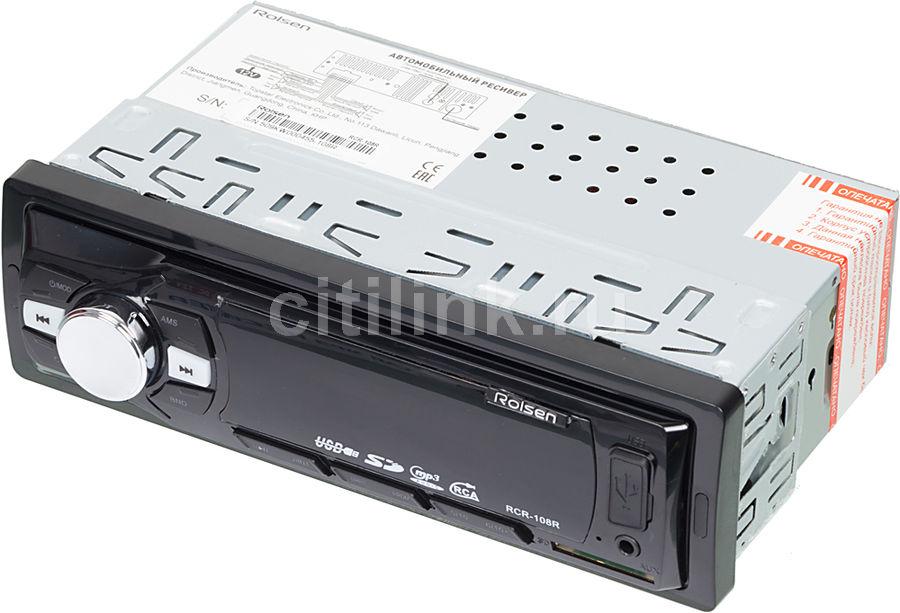 Автомагнитола ROLSEN RCR-108R,  USB,  SD/MMC