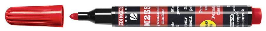 Маркер перманентный Stanger M235 712002 круглый пиш. наконечник 1-3мм красный