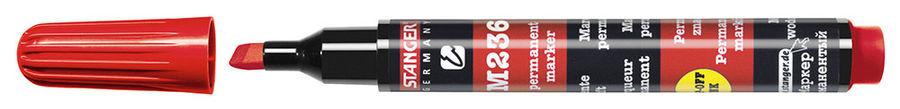 Маркер перманентный Stanger M236 712006 скошенный пиш. наконечник 1-4мм красный