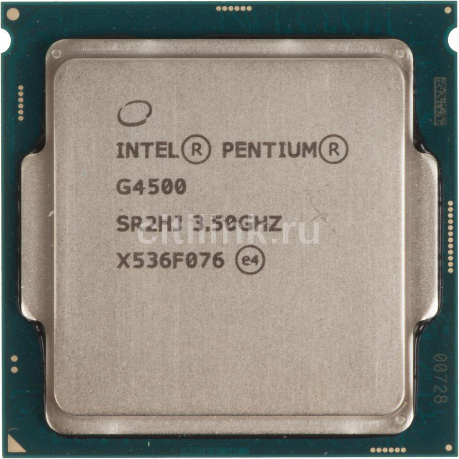 Процессор INTEL Pentium Dual-Core G4500, LGA 1151,  OEM [cm8066201927319s r2hj]