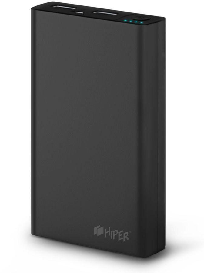 Внешний аккумулятор (Power Bank) HIPER RP10000,  10000мAч,  черный [rp10000 black]
