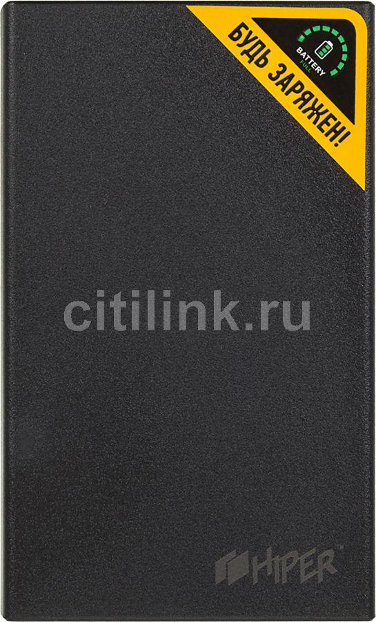 Внешний аккумулятор (Power Bank) HIPER RP12500,  12500мAч,  черный [rp12500 black]
