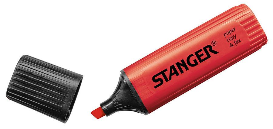 Текстовыделитель Stanger 180003000 красный