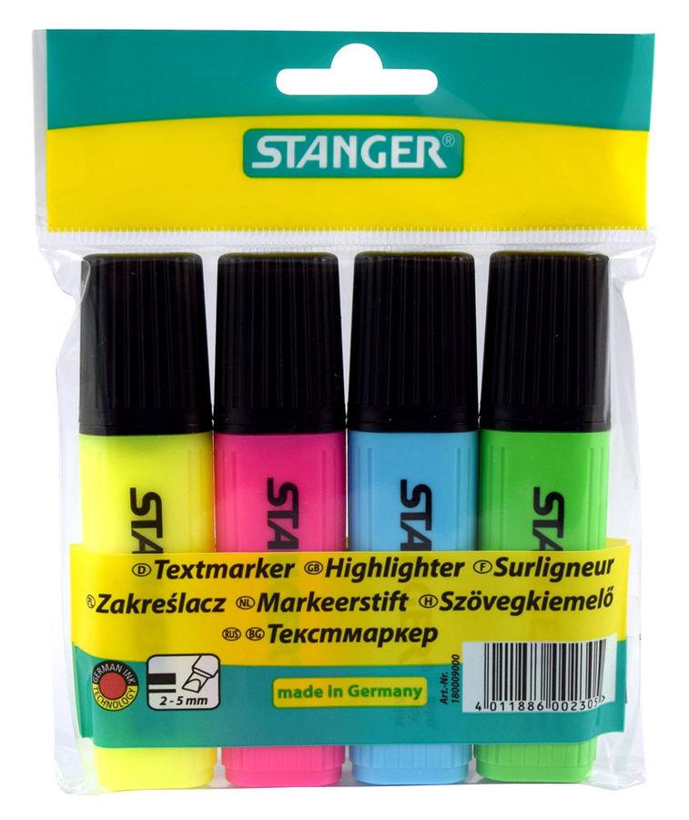 Набор текстовыделителей Stanger 180009000 4цв.