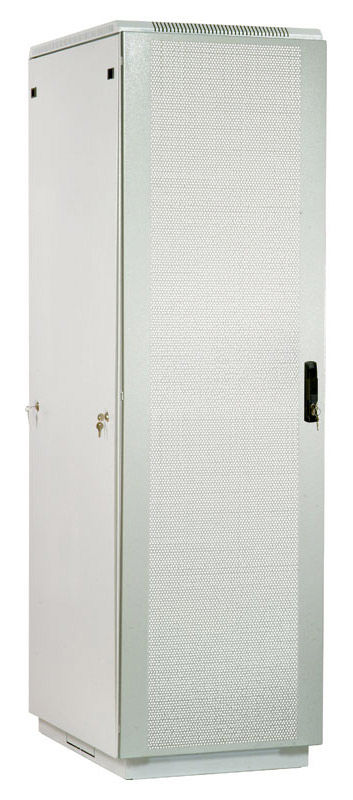 Шкаф серверный ЦМО (ШТК-М-42.6.10-44АА) 42U 600x1000мм пер.дв.перфор. 2 бок.пан. 550кг серый
