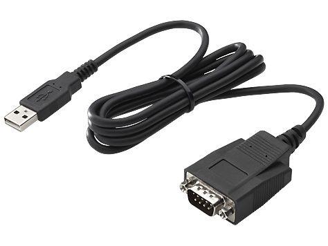 Адаптер Serial 9 pin HP J7B60AA,  DB9 (m) -  USB A (m),  черный