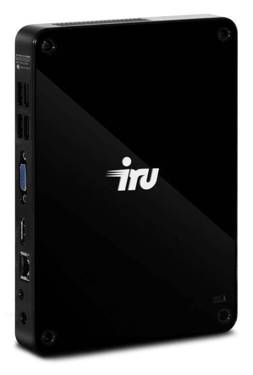 Неттоп  IRU 112,  Intel  Atom  D2550,  DDR3 4Гб, 500Гб,  Intel GMA 3650,  CR,  noOS,  черный [321312]
