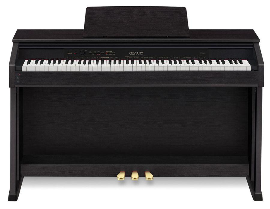 Цифровое фортепиано CELVIANO CASIO AP-460BK, 88, полновзвешенная, полноразмерные, 256, черный