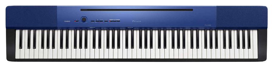 Цифровое фортепиано PRIVIA CASIO PX-A100BE, 88, полновзвешенная, полноразмерные, 128, синий