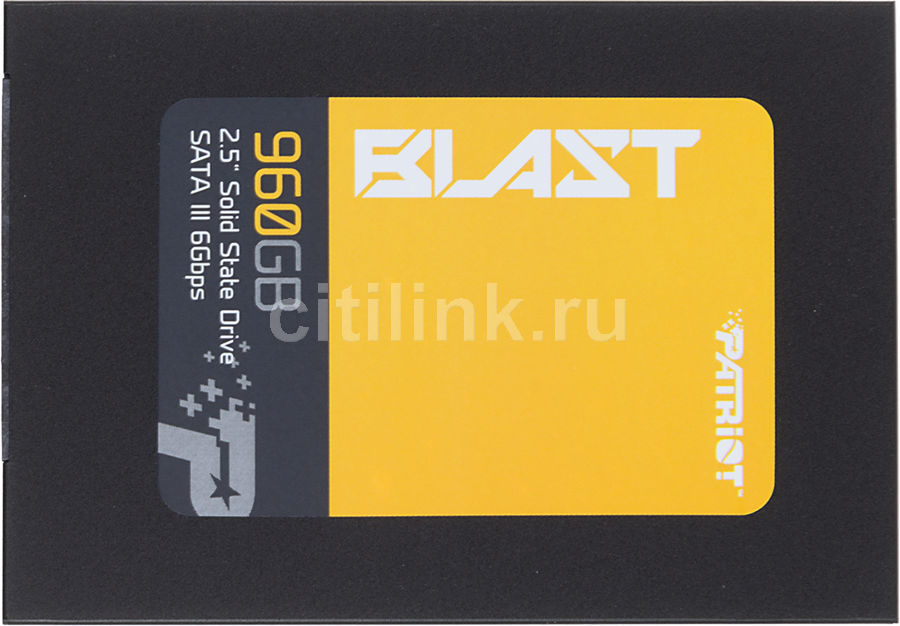 "Накопитель SSD PATRIOT Blast PBT960GS25SSDR 960Гб, 2.5"", SATA III"