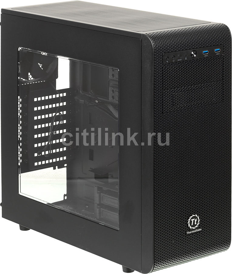 Корпус ATX THERMALTAKE Core V31, Midi-Tower, без БП, черный