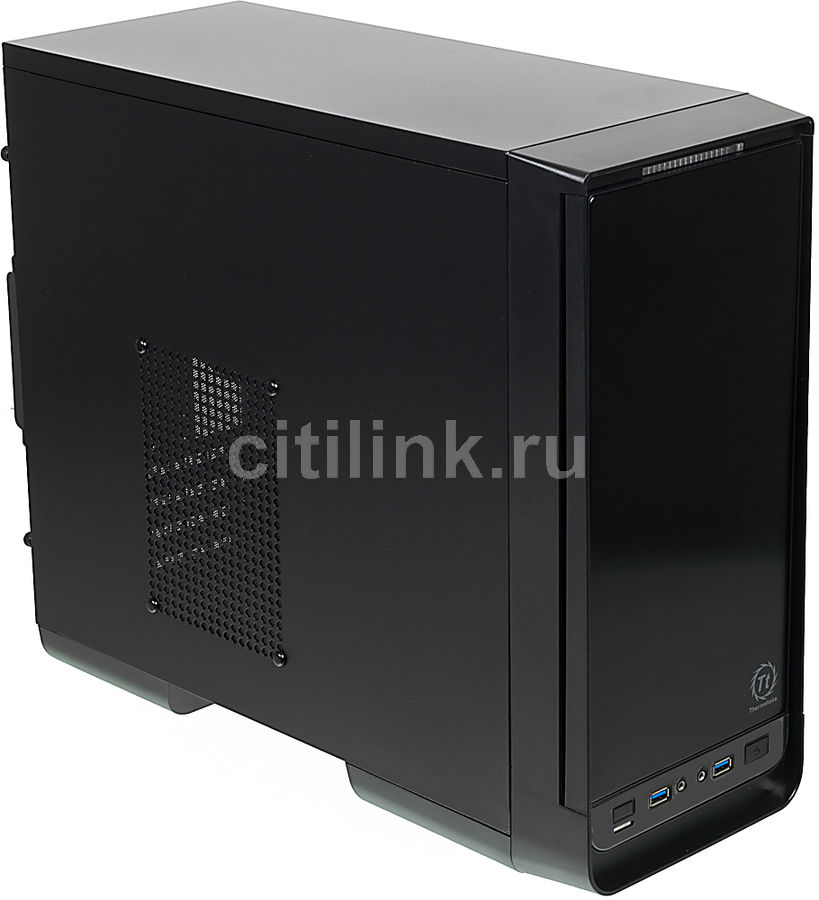 Корпус mATX THERMALTAKE Urban S1, Micro-Tower, без БП,  черный