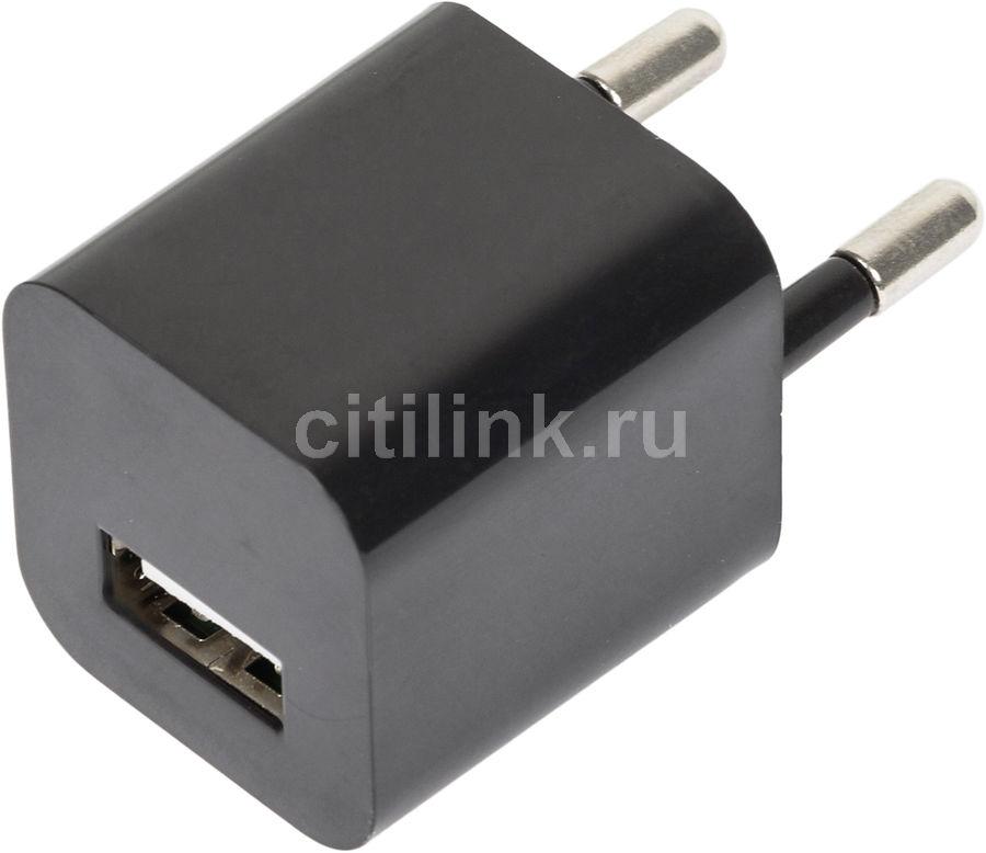 Сетевое зарядное устройство GINZZU GA-3005B,  USB,  1.0A,  черный
