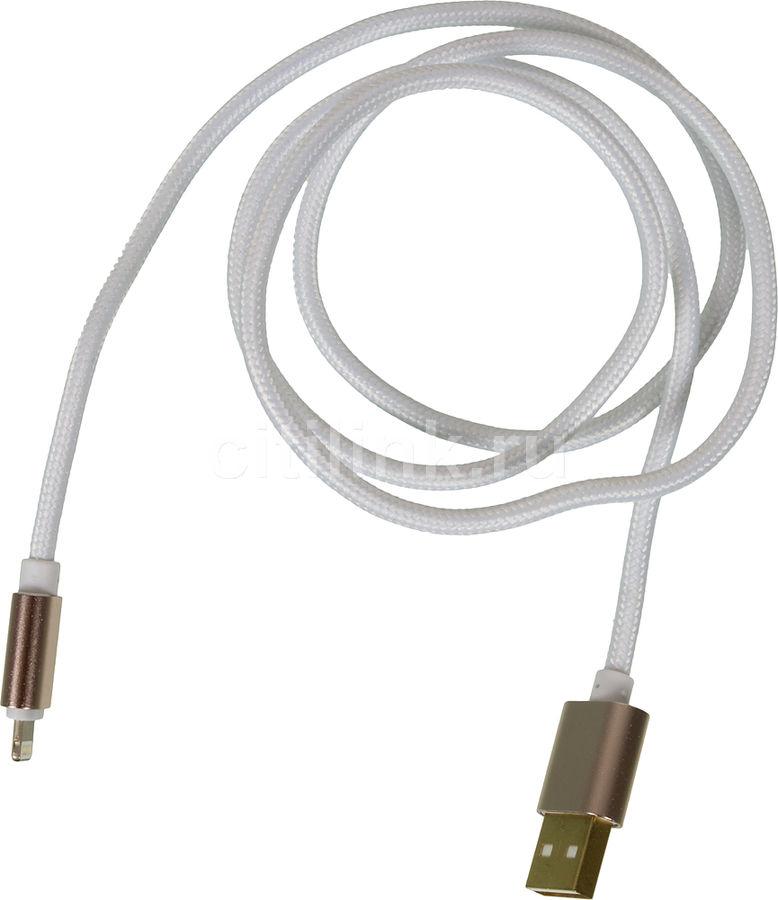 Кабель GINZZU USB -  Lightning,  1.0м,  белый [gc-555uw]