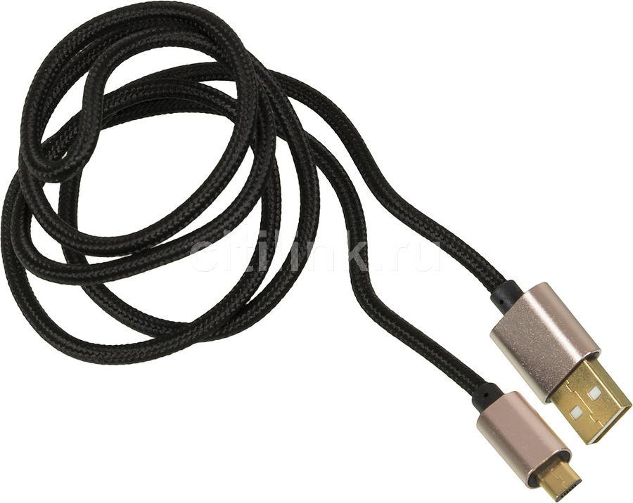 Кабель GINZZU 1.0м, черный,  USB -  microUSB [gc-558ub]