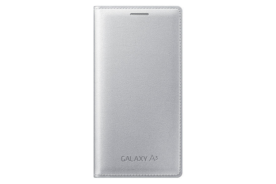 Чехол (флип-кейс) SAMSUNG EF-FA300BSEGRU, для Samsung Galaxy A3, серебристый