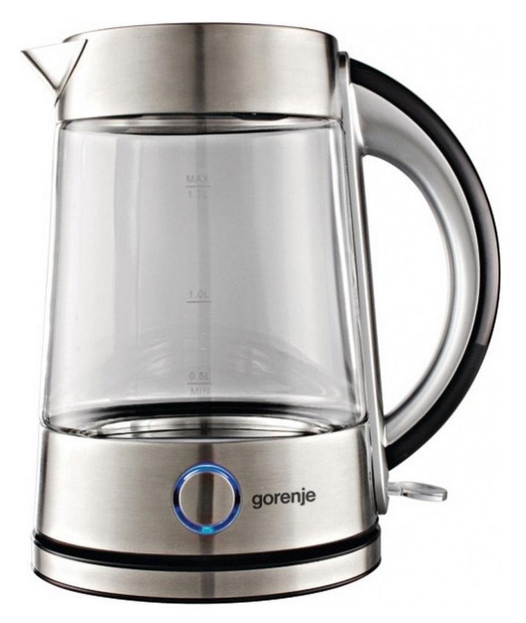 Чайник электрический GORENJE K17G, 2200Вт, серебристый