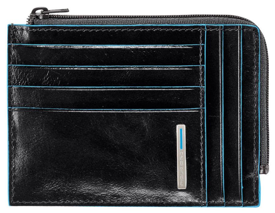 Чехол для кредитных карт Piquadro Blue Square PU1243B2/N черный натур.кожа