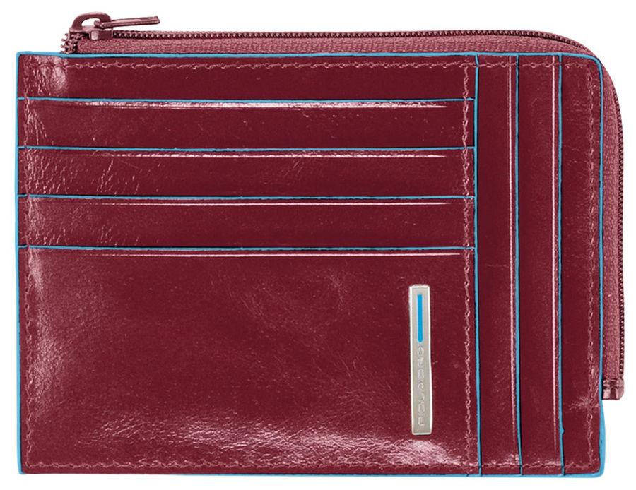 Чехол для кредитных карт Piquadro Blue Square PU1243B2/R красный натур.кожа