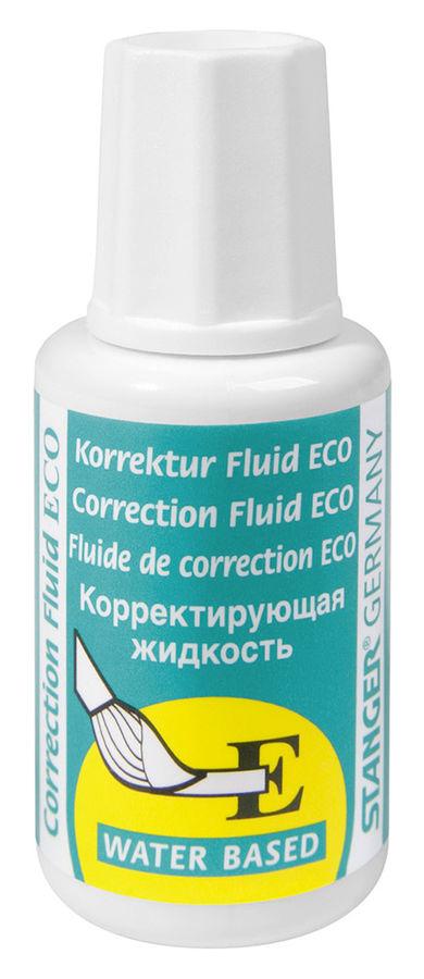 Жидкость коррект. Stanger Eco 18000100024 на водной основе кисточка белый 18мл