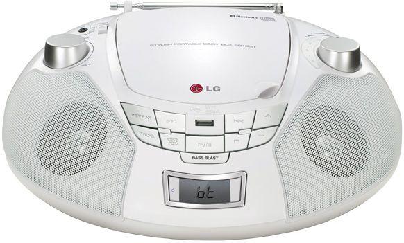 Аудиомагнитола LG SB19WT,  белый