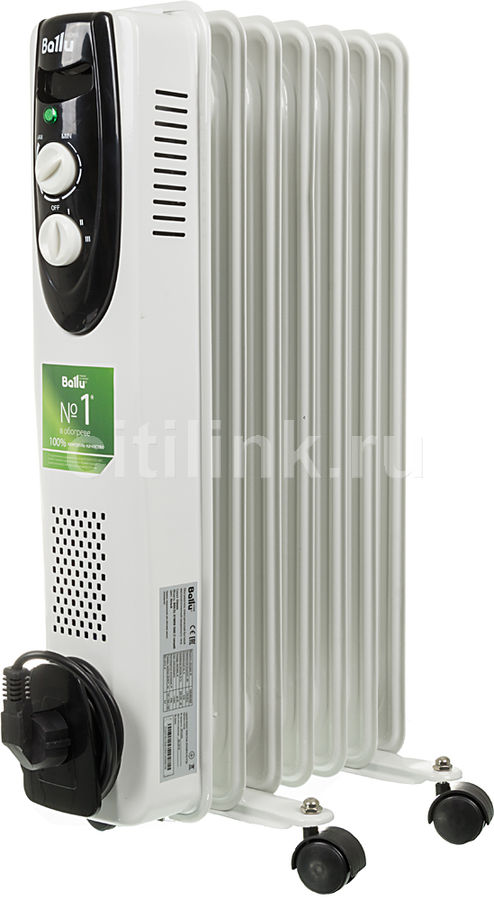 Масляный радиатор BALLU Classic BOH/CL-07WRN, 1500Вт, белый [нс-1050876]