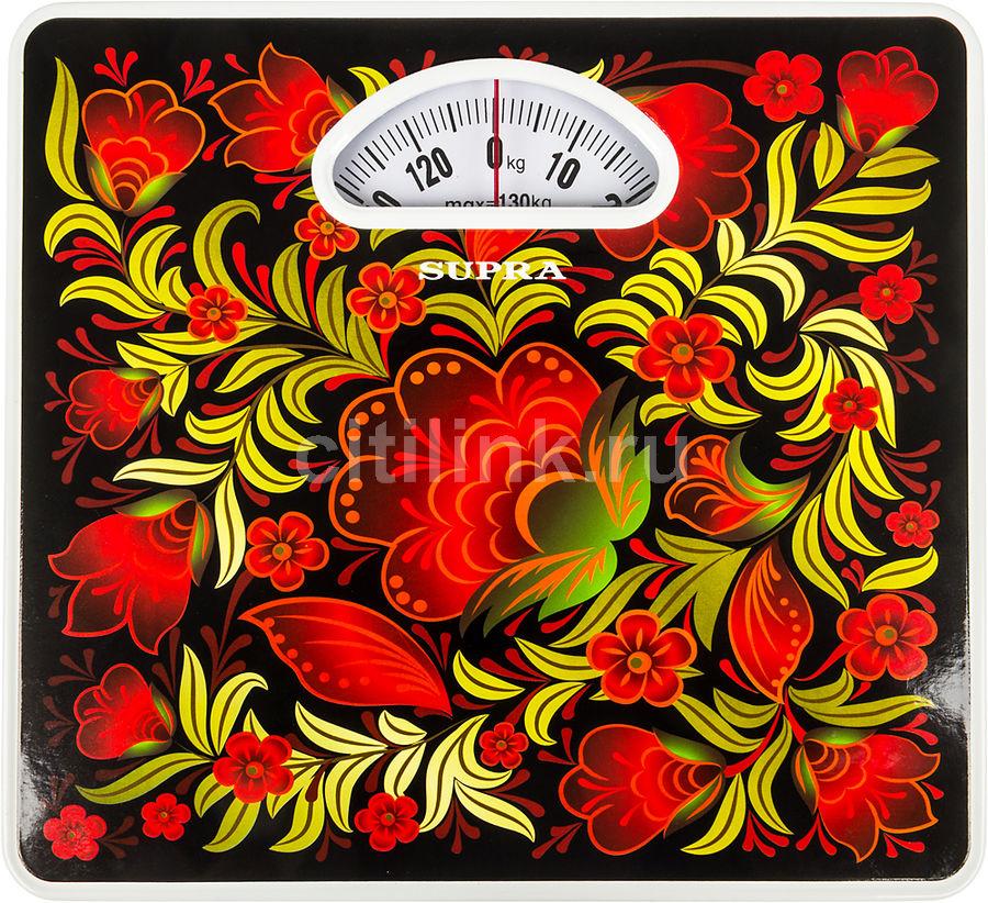 Напольные весы SUPRA BSS-4061 Kalinka, до 130кг, цвет: красный/рисунок [7785]
