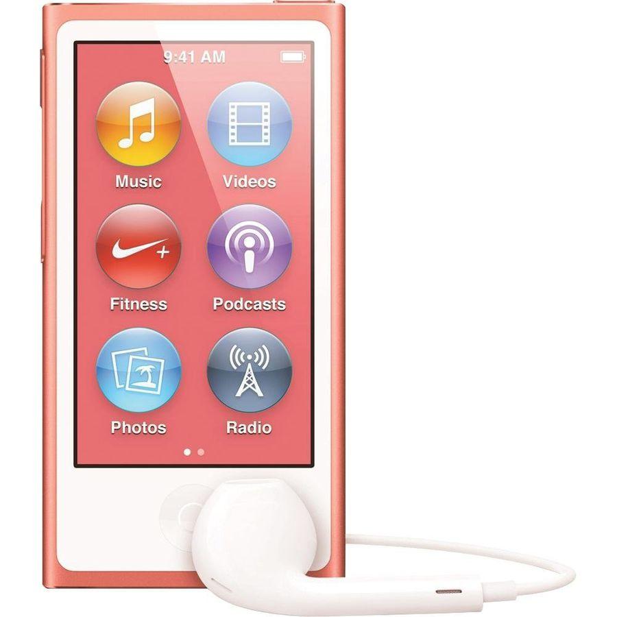 MP3 плеер APPLE iPod nano 8 flash 16Гб розовый/белый [mkmv2ru/a]