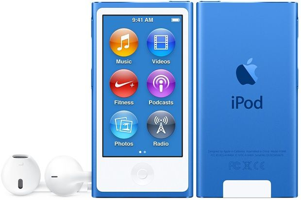 MP3 плеер APPLE iPod nano 8 flash 16Гб синий/белый [mkn02ru/a]