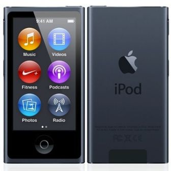 MP3 плеер APPLE iPod nano 8 flash 16Гб серый/черный [mkn52ru/a] apple ipod nano chromatic 4g 8gb