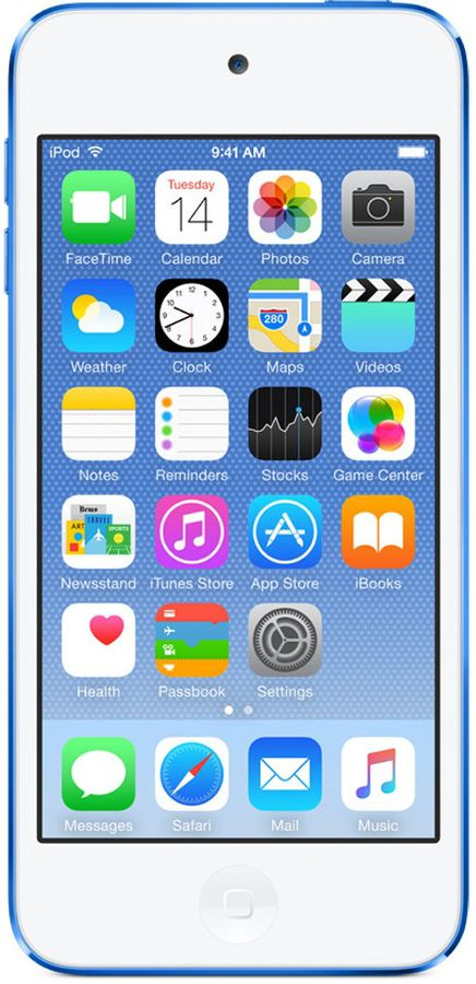 MP3 плеер APPLE iPod touch 6 flash 16Гб голубой/белый [mkh22ru/a]
