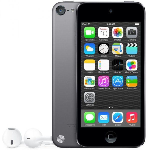 MP3 плеер APPLE iPod touch 6 flash 16Гб серый/черный [mkh62ru/a]