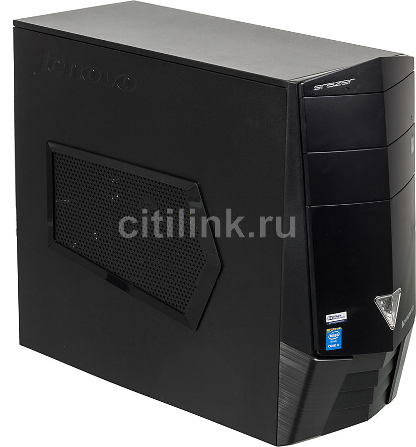 Компьютер  LENOVO Erazer X310,  Intel  Core i7  4790,  DDR3 8Гб, 1000Гб,  nVIDIA GeForce GTX 750Ti - 2048 Мб,  DVD-RW,  CR,  Windows 8.1,  черный [90au001vrs]