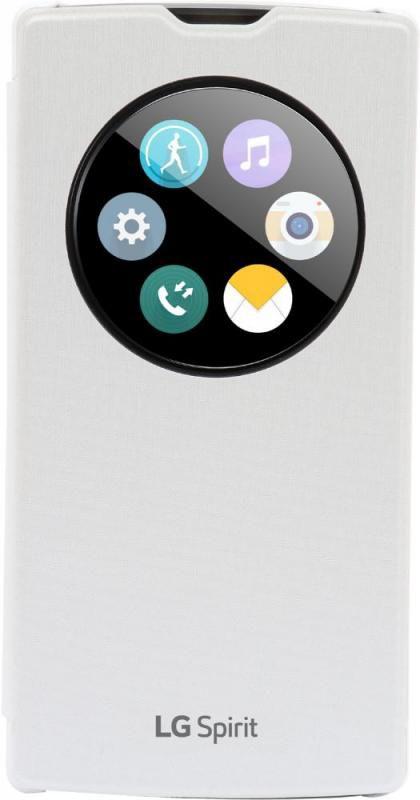 Чехол (флип-кейс) LG Quick Circle, для LG Spirit H422, белый [ccf-595.agrawh]