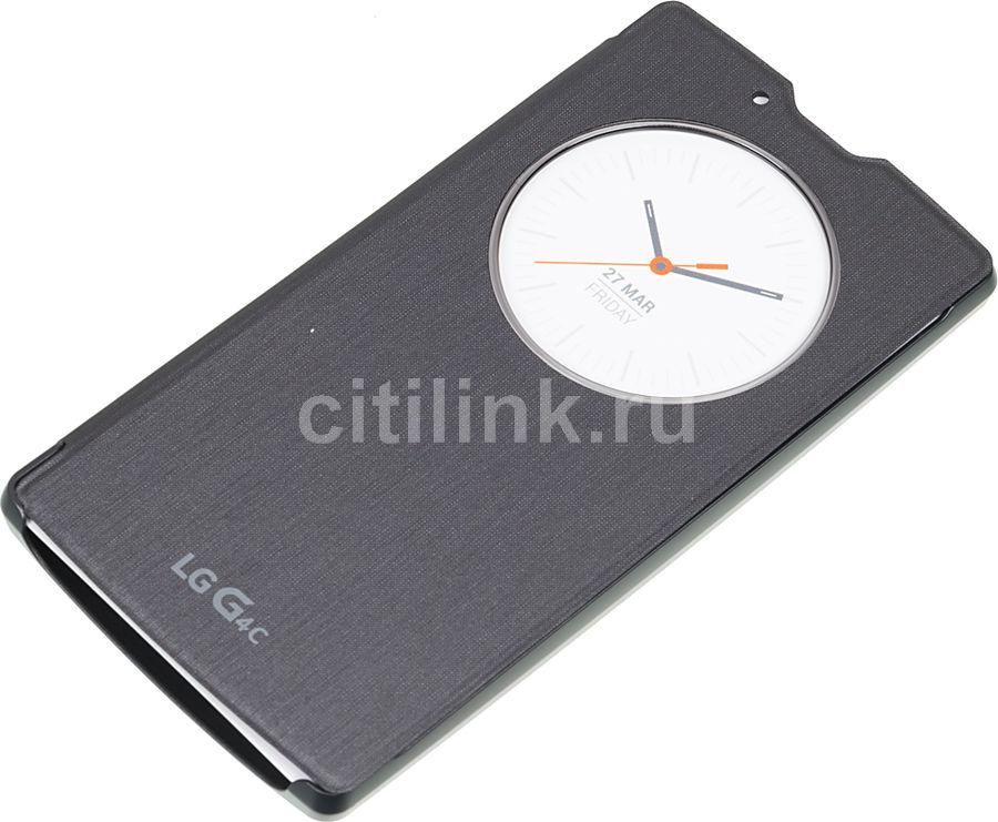 Чехол (флип-кейс) LG Quick Circle, для LG G4c, черный [ccf-600.agratb]