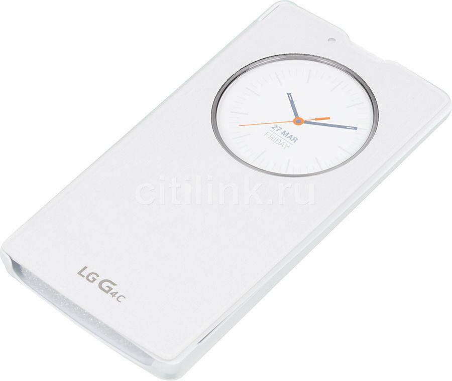 Чехол (флип-кейс) LG Quick Circle, для LG G4c, белый [ccf-600.agrawh]