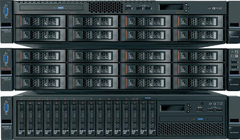 Сервер Lenovo System X x3650 M5 1xE5-2620v3 1x16Gb x16 2.5