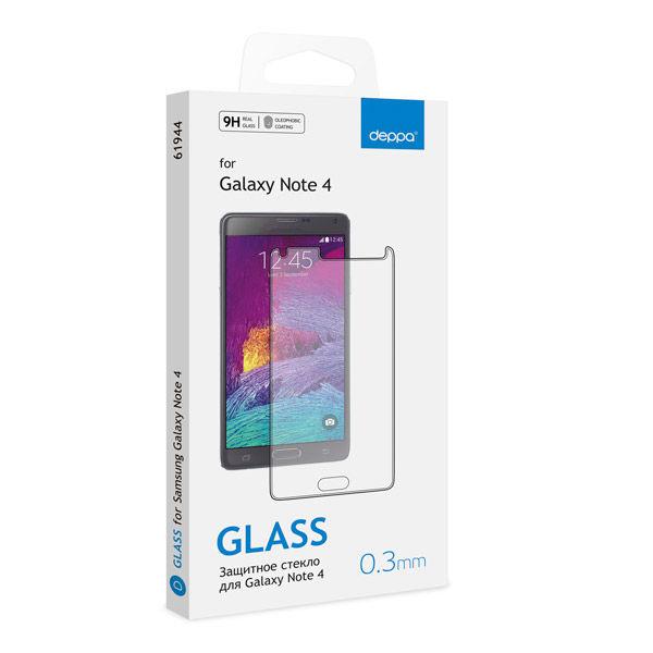 Защитное стекло DEPPA для Samsung Galaxy Note 4,  1 шт [61944]