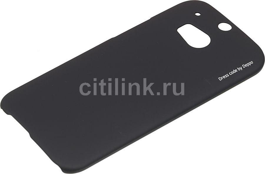 Чехол (клип-кейс) DEPPA Air Case, для HTC One (M8), черный [83067]
