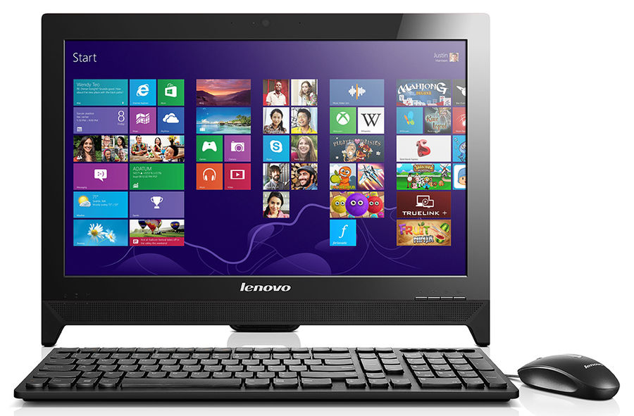 Моноблок LENOVO C260, Intel Celeron J1900, 4Гб, 500Гб, Intel HD Graphics, DVD-RW, Windows 10, черный [57332000]