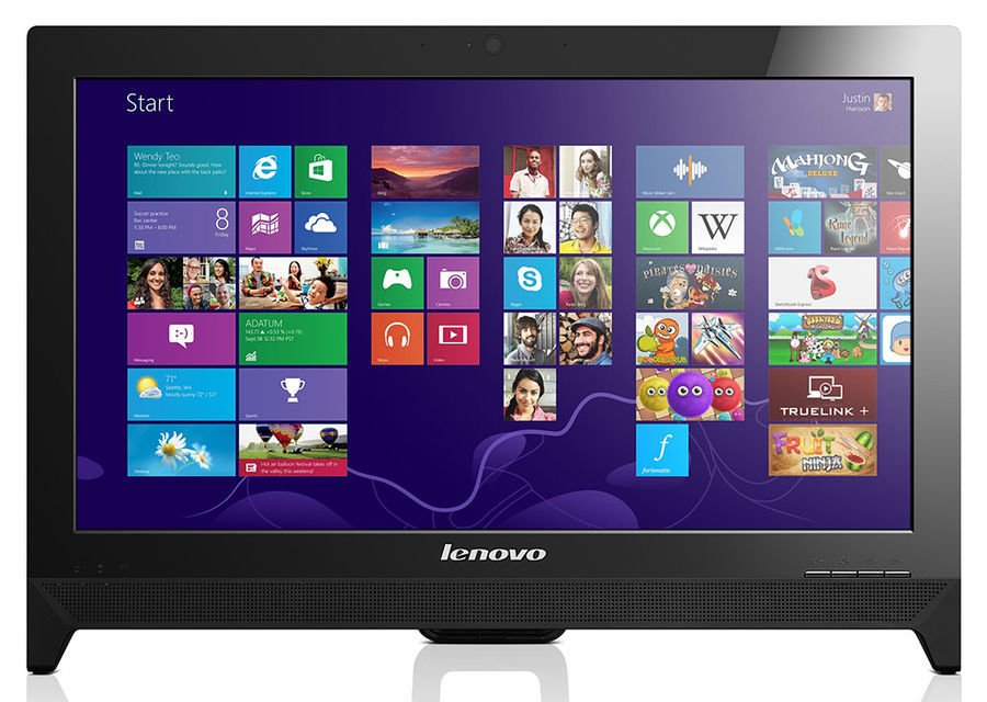 Моноблок LENOVO C260, Intel Celeron J1800, 2Гб, 500Гб, Intel HD Graphics, DVD-RW, Free DOS, черный [57331339]