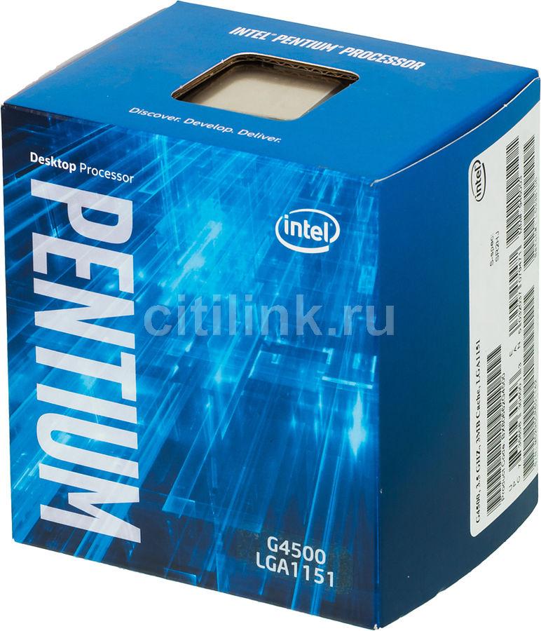 Процессор INTEL Pentium Dual-Core G4500, LGA 1151 * BOX [bx80662g4500 s r2hj]