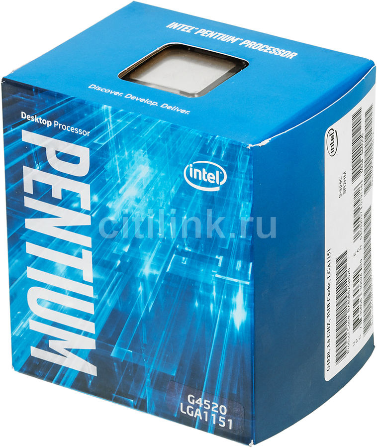 Процессор INTEL Pentium Dual-Core G4520, LGA 1151 * BOX [bx80662g4520 s r2hm]