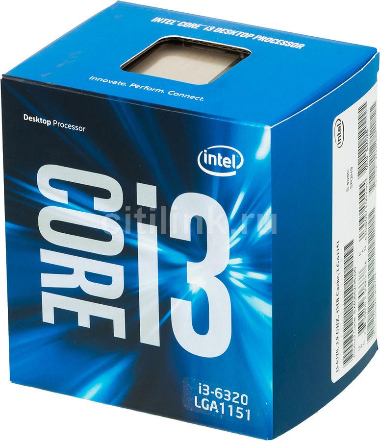 Процессор INTEL Core i3 6320, LGA 1151 * BOX [bx80662i36320 s r2h9]
