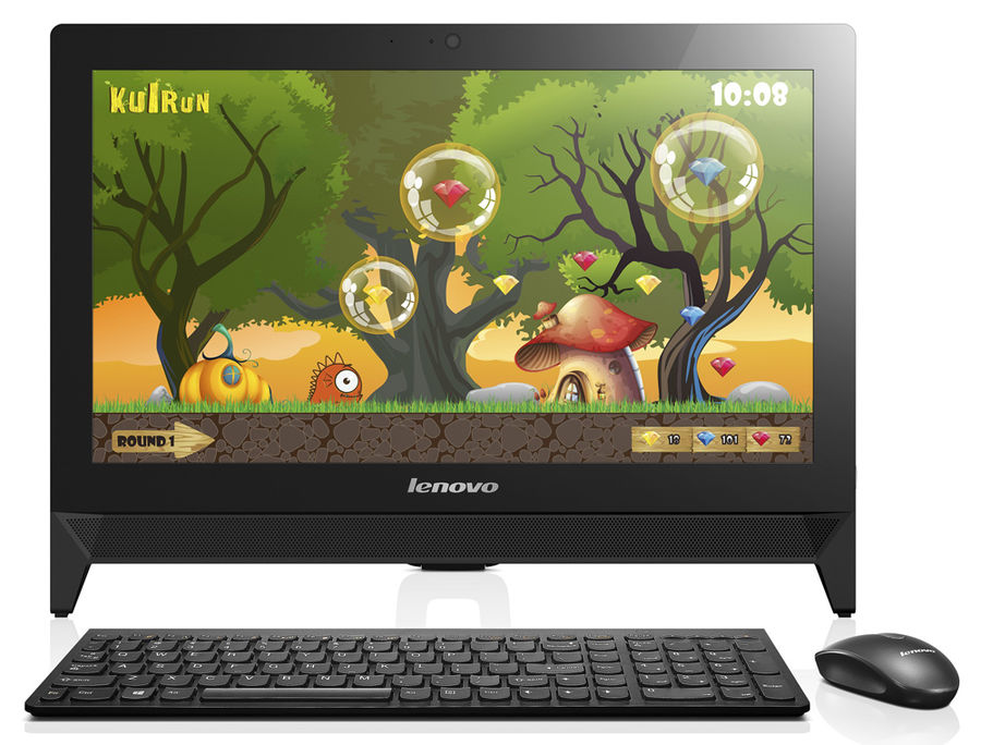 Моноблок LENOVO c20-30, Intel Celeron 3215U, 4Гб, 500Гб, Intel HD Graphics, DVD-RW, Free DOS, черный [f0b200cbrk]