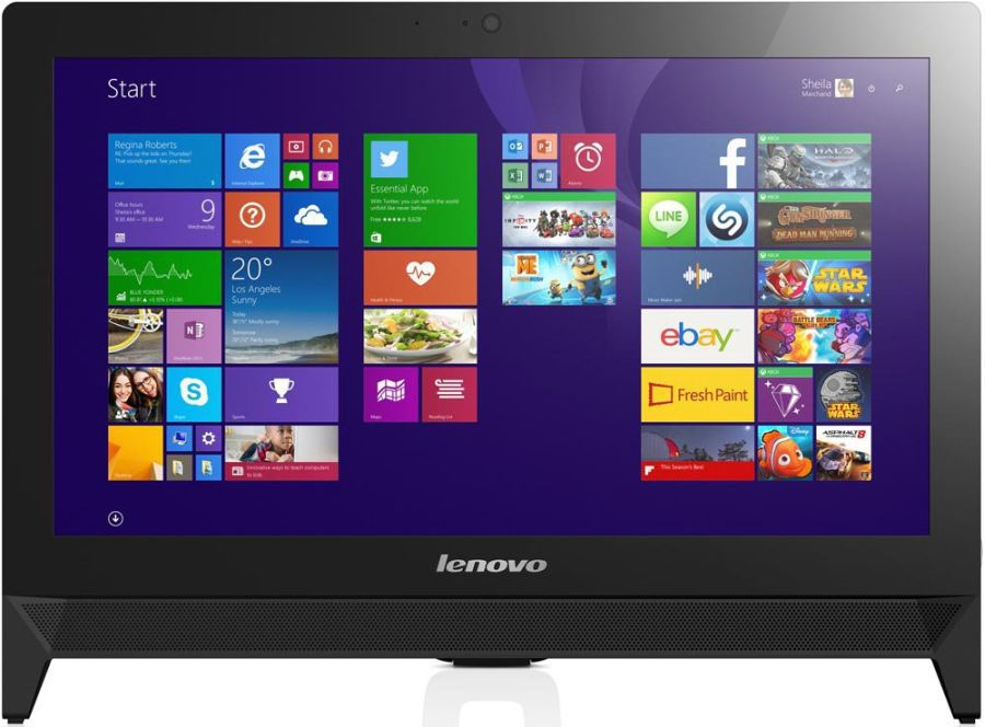 Моноблок LENOVO c20-30, Intel Core i3 5005U, 4Гб, 1000Гб, Intel HD Graphics, DVD-RW, Free DOS, черный [f0b2006mrk]