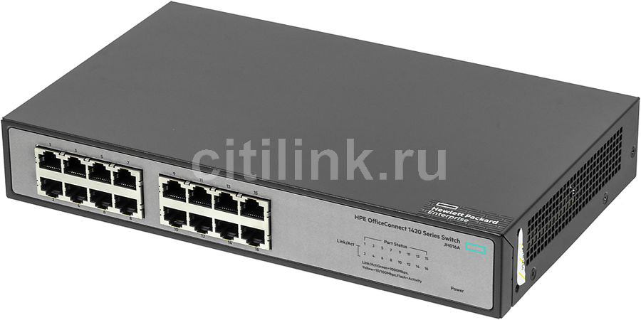 Коммутатор HPE 1420-16G, JH016A