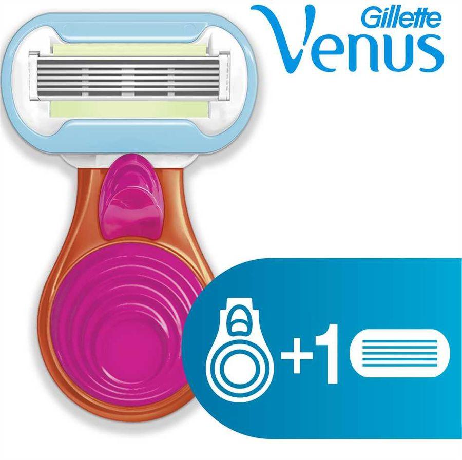 Бритва GILLETTE Venus Embrace SNAP, с 1 сменной кассетой [80254385]