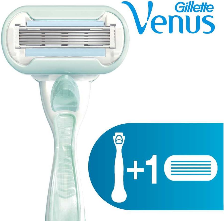 Бритва GILLETTE Venus Embrace Sensitive, c 1 cменной кассетой [84847219]